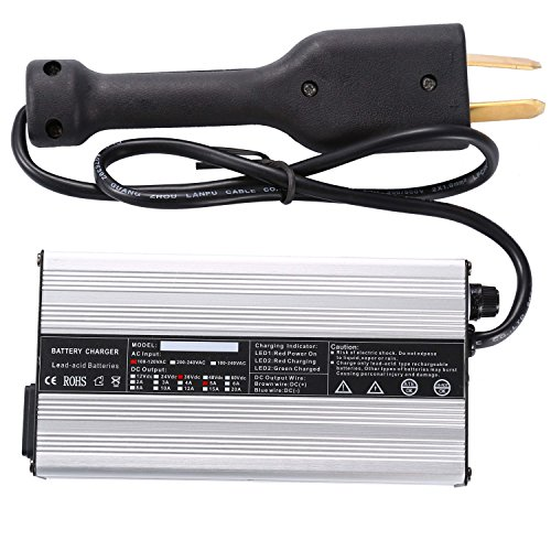 Price comparison product image OHMOTOR Golf Cart Battery Charger 36Volt 5Amp Club Car Charger with Crowfoot Connector for EZGO Yamaha