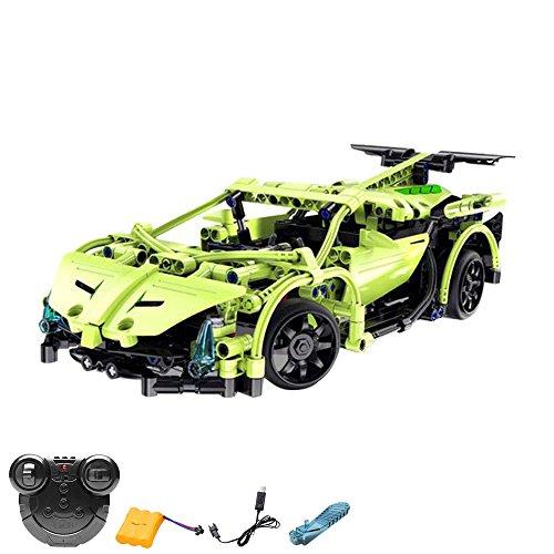 2.4 GHz RC ranuras montar DIY teledirigido Auto coche deportivo Car de bloques de construcción para el Aprendizaje Manualidades