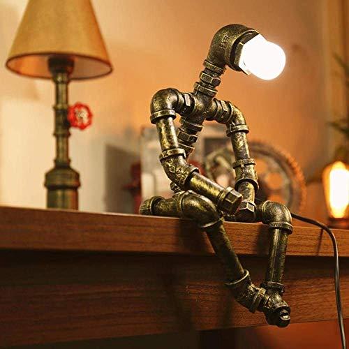 BUSUANZI Lámpara de Robot con lámpara de Escritorio Industrial de Estilo Retro lámpara de Noche, Ideal para habitación de niños o Sala de Estar