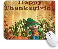 ZOMOY マウスパッド 個性的 おしゃれ 柔軟 かわいい ゴム製裏面 ゲーミングマウスパッド PC ノートパソコン オフィス用 デスクマット 滑り止め 耐久性が良い おもしろいパターン (感謝祭の秋トウモロコシカボチャ)