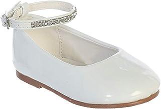 iGirlDress Baby Girls Toddler Patent Rhinestone Ankle Strap Flats Dress Shoes (1 Infant-8 Toddler)