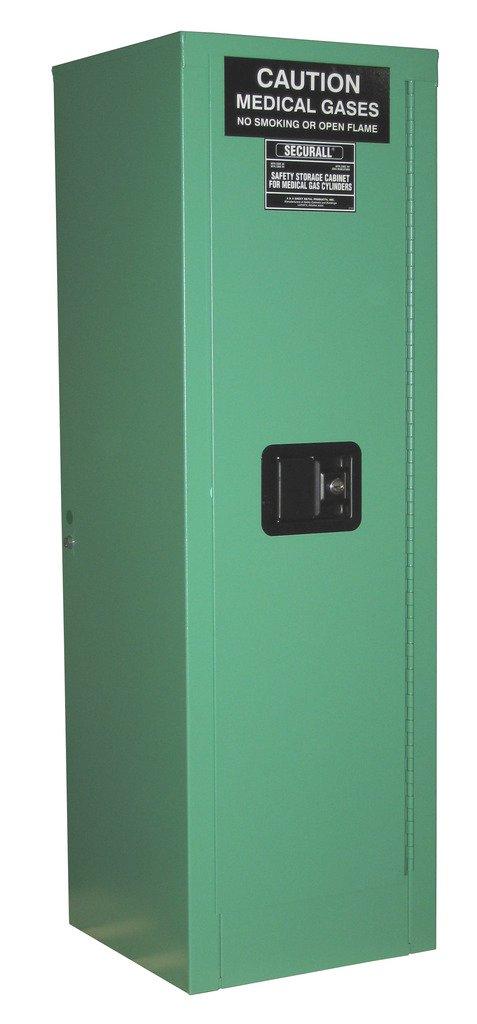 Large-scale sale SECURALL MG104FLE Medical Gas 18-Gauge Cabinet Cylinder Storage Branded goods