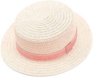36de84774cf accsa Kid Girl Straw Fedora Panama Hat Summer Beach UPF Sun Protection with  Brim