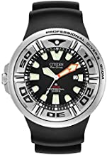 Citizen Eco-Drive Promaster Diver Quartz Mens Watch, Stainless Steel with Polyurethane strap, Black (Model: BJ8050-08E)