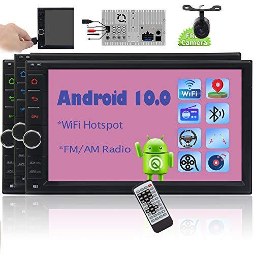 EINCAR Doble 2 DIN Android Stereo 10.0 GPS navegación del Coche de 7 Pulgadas en el Tablero de Radio de Coche con Soporte Bluetooth Reproductor de vídeo de Alta definición de Pantalla táctil, Wi-Fi