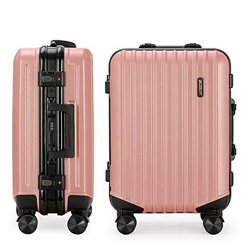 YASB Student Carry on Luggage,Universal Wheel Expandable Luggage, High Resistance Stamping, TSA Customs Lock, Silent Walking,Pink,M