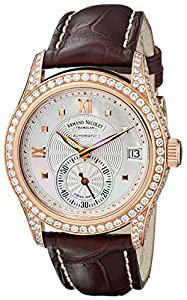Armand Nicolet Women's 7155V-AN-P915MR8 M03 Classic Automatic Gold with Diamonds Watch image