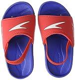 Speedo Atami Sea Squad Slide IM Zapatos de Playa y Piscina, Unisex niño, Multicolor (New Surf/Lava Red 000), 21.5 EU