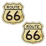 folien-zentrum 2 x Route 66 Estados Unidos Escudo Vintage Retro Pegatinas Shocker Mano Auto JDM...