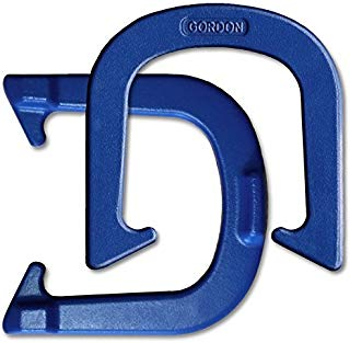 Gordon Professional Pitching Horseshoes - NHPA Sanctioned for Tournament Play - Drop Forged Construction - One Pair (2 Shoes) - Blue Finish - Medium Weight