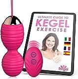 Kegel - Bola china para ejercitar el suelo pélvico femenino con mando a distancia y función de...