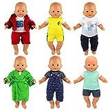 VILLAVIVI 6 Sets Kleidung Kleid Puppenkleidung Puppenoutfits Sport Outoor Outfits für 36cm...