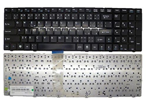 Laptop-Tastatur für MSI A6300 A6500 CR610 CR630 CX605 CX620MX Schwarz mit schwarzem Rahmen Tschechische CZ S1N-3ECZ211-SA0 V111922AK1 CZ MS-168B MS-1684 MS-1687 MS-1688 JK18027