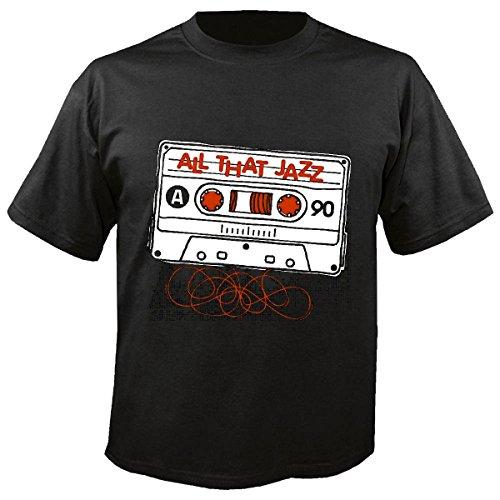 T-shirt Remera La Music es Vida draaibare DJ Mixer LP Vinyl Techno Jazz DJ Cobarde Alma Trance Festival Hip Hop House in zwart