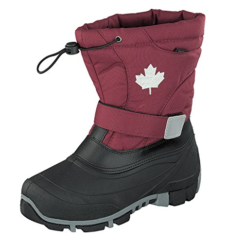 Canadians Indigo 467-185 Kinder Winter Stiefel Boots gefüttert in Berry (27)