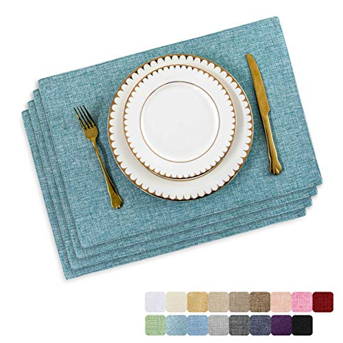 Home Brilliant Placemats Set of 4 Heat Resistant Dining Table