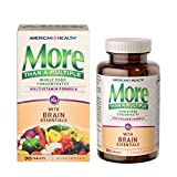 American Health More Than A Multiple with Brain Essentials Multivitamin - Whole Food Supplement Supporting Mental Focus, Memory and Concentration - Gluten-Free - 90 Tablets, 30 Total Servings