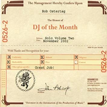 DJ of the Month: Bob Ostertag Solo, Vol.2