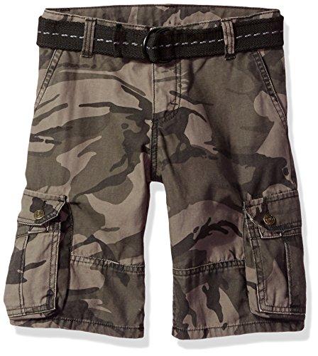 Wrangler Authentics Boys' Fashion Cargo Shorts, Anthracite Camo, 12