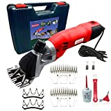 Sheep Shears Pro 220V UK plug 500W Professional Heavy Duty Electric Shearing Clippers with 6 Speed, for Shaving Fur Wool in Sheep, Goats, Cattle, Farm Livestock Pet, with Grooming Carrying Case CE
