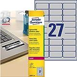 Avery Zweckform Etichette L6011-20, 20 Fogli, Etichette per inventario, 63, 5 x 29, 6 mm