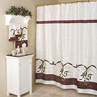Lenox Holiday Nouveau Cotton Rod Pocket Curtain Single Panel