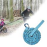 Cuerda de Remolque MTB, Cuerda de Remolque Bicicleta para Niños, Universalmente Duradera, Para Bicicletas, Bicicleta Eléctrica, Adultos (3M, Hasta 500 lb / 225 kg)