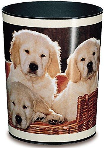 Läufer 26551 Papierkorb Hunde, 13 Liter Mülleimer, perfekt für das Kinderzimmer, rund, stabiler Kunststoff, verschiedene Motive