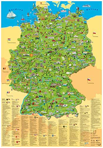 """Erlebniskarte """"Illustrierte Deutschlandkarte"""""""