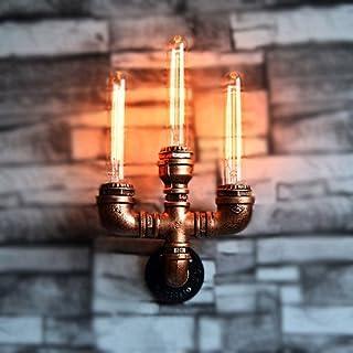 レトロインダストリアルウォールランプリビングルーム寝室浴室回廊メタル三頭鉄フォークウォールランプスポットライト