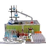 Equipo de laboratorio para con sustancias químicas Caja de utensilios, ciencia industrial Extracción por destilación Juegos de kits de vidrio Universidad Materiales de enseñanza en el hogar