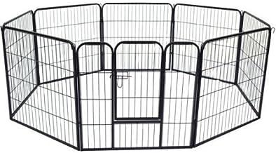 Parque Mascotas Valla 8 Piezas 80x80cm + Puerta Entrenamiento Perros