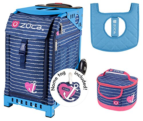 Zuca Sport Bag - Anchor My Heart with Gift Lunchbox and Seat Cover (Blue Frame)