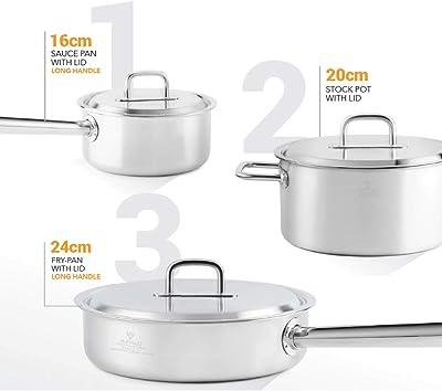 Amazon Com Bialetti 10 Piece Nonstick Granito Cookware