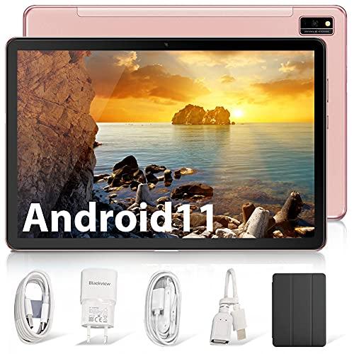 Blackview Tab10 Tablet 10.1 Pulgadas, Android 11 Ultrar-Rápido Tableta 5G WiFi 4G Dual SIM,4GB RAM 64GB ROM (TF 128GB) Octa-Core, Batería 7480mAh, 1920x1200 FHD+,13MP Cámara,Bluetooth,OTG,Carga Rapida