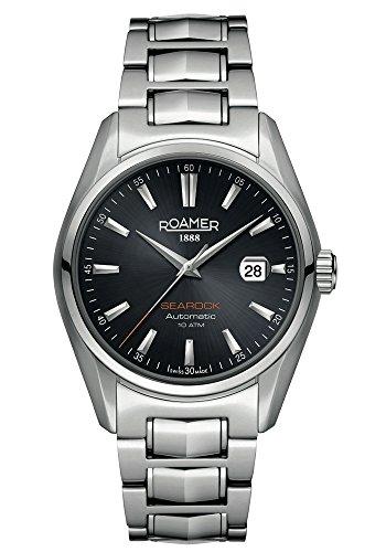 Roamer 210633 41 55 20 - Reloj analógico automático para Hombre con Correa de Acero Inoxidable, Color Plateado