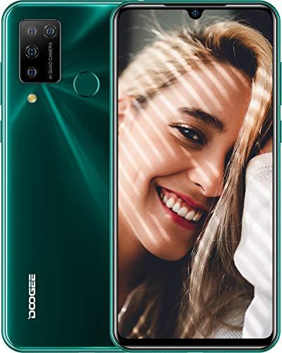 DOOGEE N20 Pro (2020) Smartphone ohne Vertrag Laser Rückwandplatine 6,3 Zoll FHD+ Display 4400mAh Akku 16MP AI Quad Kamera 6GB RAM+128GB ROM Dual SIM Android 10 Bluetooth 5,0 Handy(Grün)