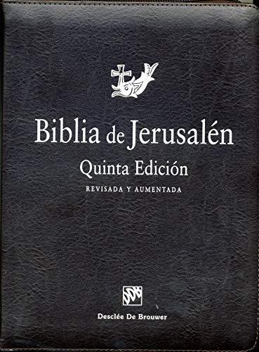 Biblia de Jerusalén: 5ª edición Manual totalmente revisada - Modelo con cremallera