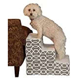 Pet Gear Portable Soft Step Pet Stairs for Cats/Dogs up to 50 lbs, Trellis Print Design