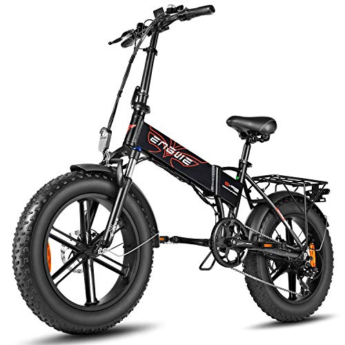 20'' Folding Electric Mountain Bike with Removable Lithium-Ion Battery (48V 500W), Electric Bike 7...
