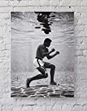 MeiMeiZ Muhammad Ali Poster Standard Size | 18-Inches by 24-Inches | Muhammad Ali Underwater Boxing Sports Posters Wall Poster Print