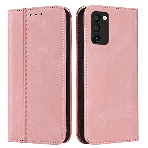 Agedate Funda para Samsung Galaxy S20 FE,Funda Protectora de Cuero para Tarjeta Ranura para Dinero Soporte Bumper Flip,Vintage Funda para Samsung Galaxy S20 FE-Rosa