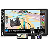 Double Din Stereo 7 Inch Touchscreen Car Radio with Backup Camera, 2 Din Car Stereo Audio Receiver MP5/4/3 Player with Bluetooth Hands-Free, Phone Mirror Link, USB/SD/AUX Port
