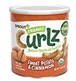 Sprout Organic Curlz Toddler Snacks, Sweet Potato & Cinnamon, 1.48 Ounce Canister (1 Count) (Packaging May Vary)