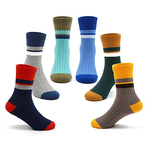 Boys Seamless Cotton Socks Kids Athletic Crew Socks 6 Pack 2017 New For 5T / 6T / 7T Little Boys