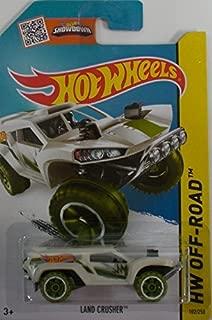 Hot Wheels 2015 Jungle Rally - Land Crusher [Pearl White] Card 102/250