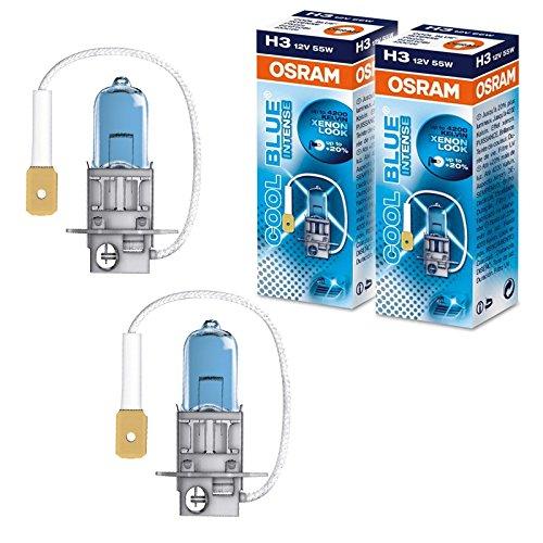 2x OSRAM H3 COOL BLUE INTENSE 12 V 55W Glühlampe +20% mehr Licht Leuchtmittel PK22s OVP 64151CBI Faltschachtel Birne