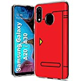 Case86 Slim Case for Samsung Galaxy A20 / A30, Not for Galaxy A10E A50, Pokedex Design Light Weight, Full Edge Protection, Small Form Factor