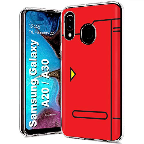 Case86 Slim Case for Samsung Galaxy A10E, Not for Galaxy A10, Pokedex Design Light Weight, Full Edge Protection, Small Form Factor
