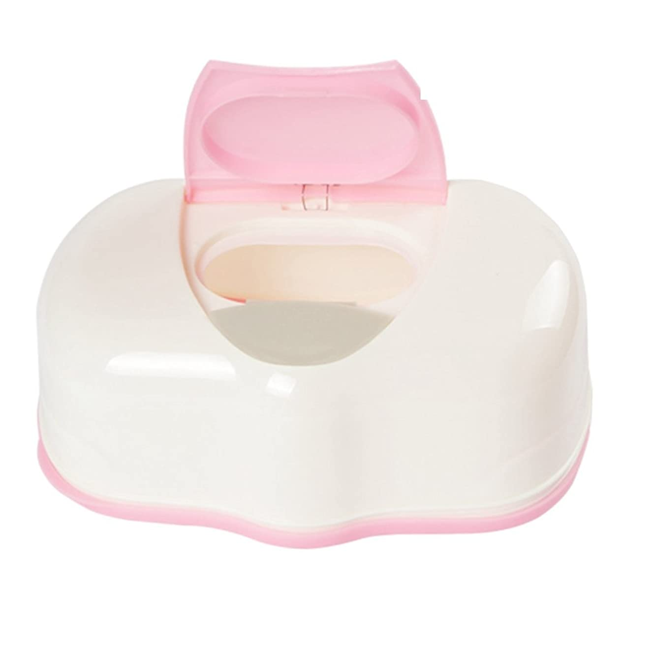 Baby Wipes Dispenser,Reusable Diaper Pouch Portable Travel Wet Wipes Holder Case Keeps Wipes Moist (Pink)